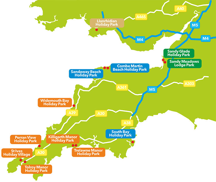 John Fowler Holiday Parks Map